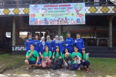 VAKSINASI RABIES DALAM RANGKA ANNIVERSARY GATHERING PONTIANAK DOG LOVER  BERTEMAKAN HIGH FIVE IF YOU BELIEVE THAT, DOGS ARE FAMILY
